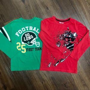 Football long sleeve T-shirts. Boys size 8 Xersion